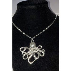 Necklace with Large Octopus Pendant